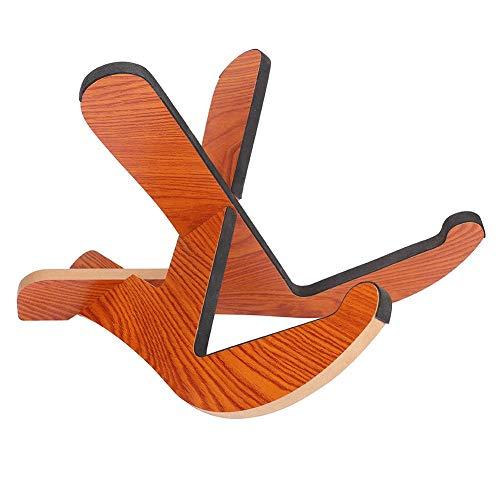 Dilwe Holz Gitarrenständer, Abnehmbarer Platzsparender Holzständer-Rahmenboden-Halter für Folk- und Akustikgitarre-Zubehör