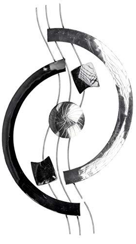 Formano - Extravagante Wanddeko Industrie Design - Metall-Bild Schwarz Silber - Wandbild Moderne Wanddekoration 66x42cm