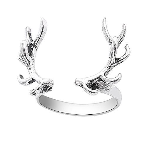 Geweih Ring Offen Verstellbar Tiere Schmuck