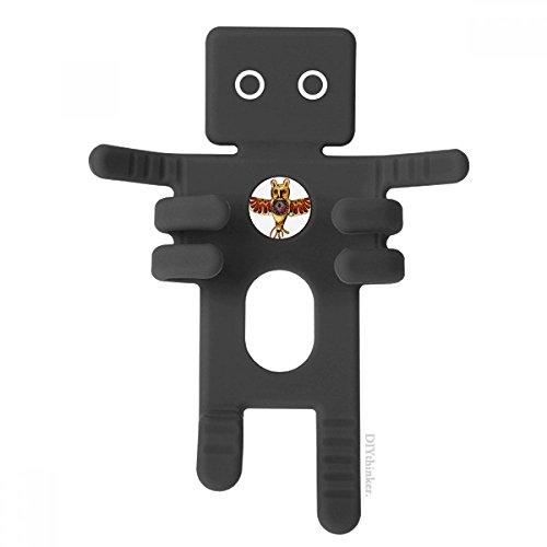 DIYthinker Native American Indian Owl Status-Schwarz-Telefon-Einfassung Auto-Armaturenbrett-Halter für Handy-Geschenk (Owl Telefon)
