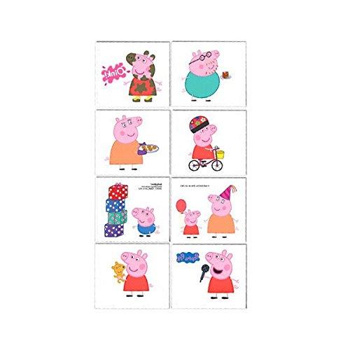 Peppa Pig Kinder temporäre Tattoos Geschenk Pack