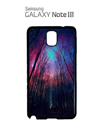 Galaxy Trees Nature Sky Cool Funny Hipster Swag Mobile Phone Case Back Cover Coque Housse Etui Noir Blanc pour for Samsung Galaxy S4 Black Noir