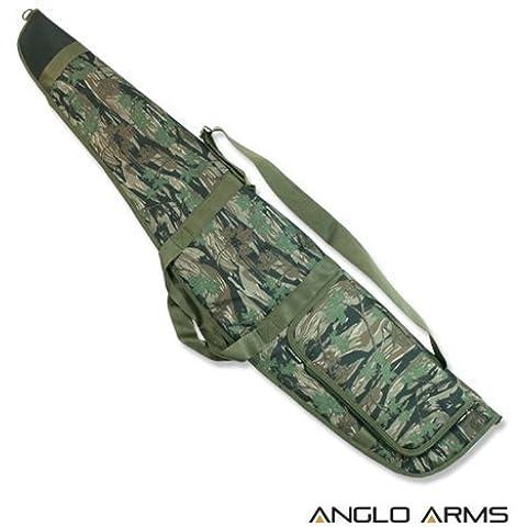 Cover Deluxe Mimetica Imbottita per Fucile da Caccia con Spazio per Silenziatore