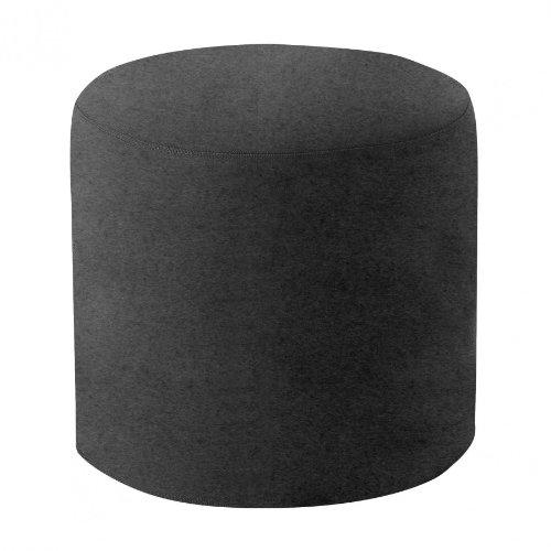 Softline Drum Hocker/Beistelltisch M, anthrazit Stoff Felt 610 H 40cm Ø 45cm