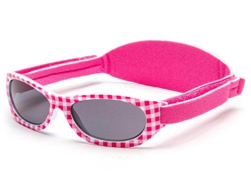 Gafas de sol bebés niños y niñas, edad 0 meses a 2 años CINTA/BANDA SUAVE DE NEOPRENO AJUSTABLE, 100% protección rayos UVA y UVB, seguras, confortables, resistentes, ideal regalo, Baby Kiddus
