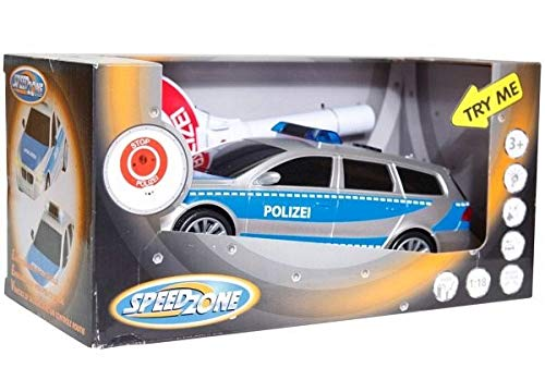 Speed Zone Polizeiauto mit Polizeikelle