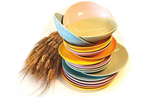 KALEIDOS Service de 18 Assiettes New Pastel *
