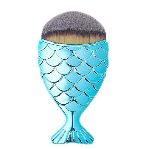 5 Pcs Sirène Queue Maquillage Brosses Ensemble Beauté Outils Faire Up Fondation Sourcil Eyeliner Rougir Kabuki Cosmétique Outils Lèvre Brosses Trousse hibote