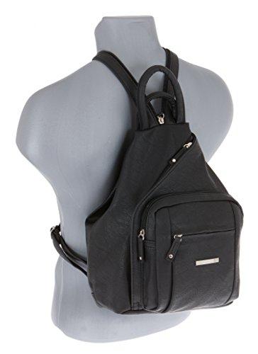 ALESSANDRO Femme Bag Handtasche Rucksack Damentasche + Schlüßelmäppchen (TIRANO Black 6) - 4