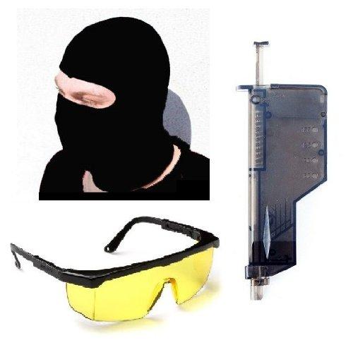 Airsoft Set XXL Speedloader + Sturmhaube + Schutzbrille