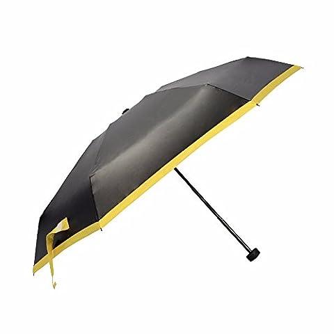 Schirm - Schwarzen Regenschirm, Fünf - Kreative Sonnenschirm, Weibliche Kleber,