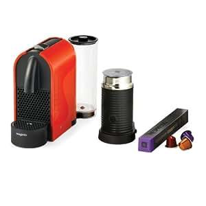Magimix Nespresso U 11343 Coffee Machine with Aeroccino - Orange