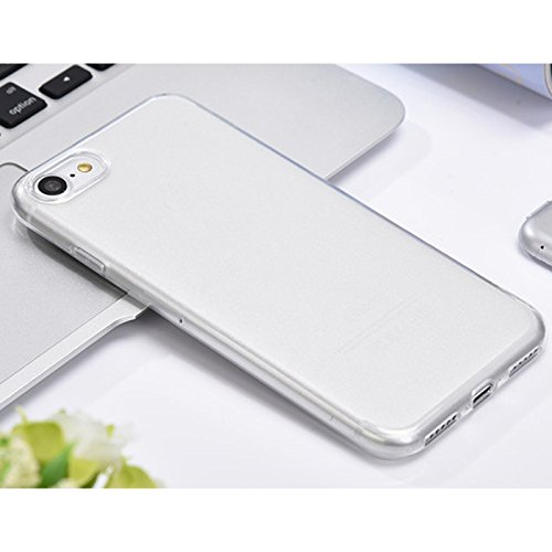 Linyuan Bonne qualité 5.5-inch Fashion Cover Transparent Soft Silicone Protective Case Cover for iPhone 7 Plus White