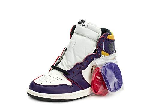 Nike Herren Air Jordan 1 High OG Defiant Lakers Court pur/schwarz Leder, Violett (Court Purple/Black), 45 EU