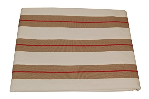 Campagne Table Linen Marina Nappe Taupe/rouge
