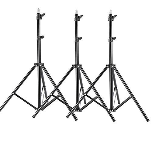 Neewer® 3 Stück 6 ft / 75 Zoll / 190cm Fotografie Stativ Licht Stative für Studio-Sets, Video, Beleuchtung, Softboxen, Reflektoren usw. Studio-beleuchtung
