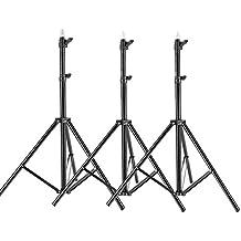 Neewer® Kit de 3 Soportes Trípode de Aluminio de Luz para Estudio de Foto/Vídeo, Luz, Softbox – 9 pulgadas(260cm)