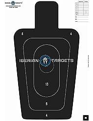 Siluetas policiales puntuación / precisión (59,4 x 84,1 cm) (Pack 20)