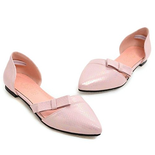 Zapatillas Bajas De Mujer Coolcept Sandalias Bowknot De Dorsay Zapatos Cerrados Rosa