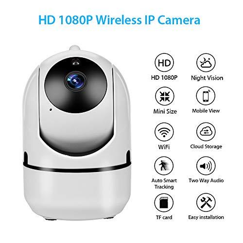 Mobile Storage-systeme (Miya system ltd Mini Kamera für Heimsicherheit, Zwei-Wege-Audio-HD-1080P-Cloud-IP-Kamera, WiFi-Smart-Kamera mit Automatischem Tracking-Netzwerk, Kabellose CCTV-Kamera mit Einfacher Installation)
