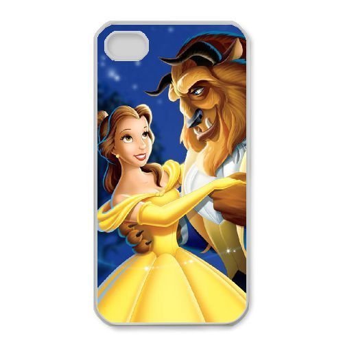 iphone4 4s White phone case Disney Cartoon Comic Series Beauty and the Beast QBC3083847