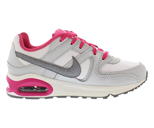 Nike Air Max Command (Ps), Chaussures de Sport Fille Blanco / Gris / Rosa (White / Mtlc Cl Gry-Vvd Pnk-Cl G)