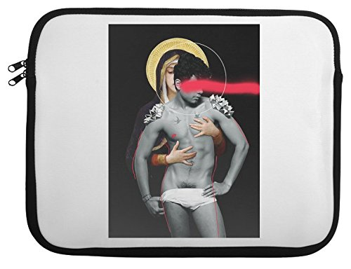The Virgin Of The Lilies Laptop Case 13