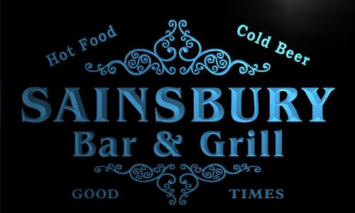 u38955-b-sainsbury-family-name-bar-grill-home-brew-beer-neon-sign-barlicht-neonlicht-lichtwerbung