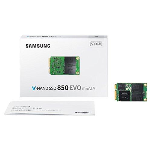 Samsung MZ-M5E500BW SSD 850 EVO, 500 GB, Msata, SATA III, Verde/Oro