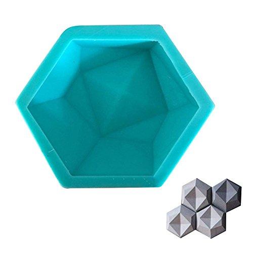 Lembeauty DIY ladrillo de Pared moldes de Silicona geométrica Pared hormigón Molde...