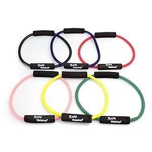 6er SPAR SET | TheraPIE Fitness Ring | Pilates Ring | Yoga Ring | Circle mit 25 cm Durchmesser | mit 6 verschiedenen Widerständen
