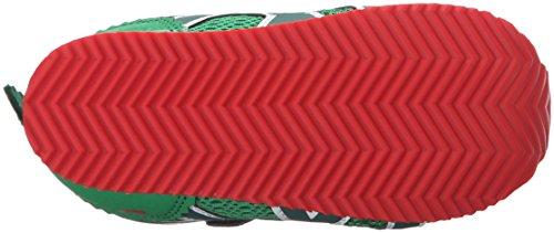 Asics School Yard TS Textile Turnschuhe Alligator Green/Red