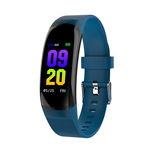 Produktbild EARS Smart Watch MK04 Sport Gesundheit Überwachung Hinweis Erinnerung Smart Bracelet Heart Rate Blood Pressure Monitor Waterproof Multifunction Pedometer Colour Men Health clock (Blau)