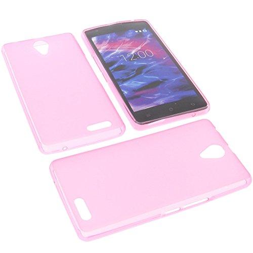 foto-kontor Tasche für MEDION Life E5020 Gummi TPU Schutz Handytasche pink