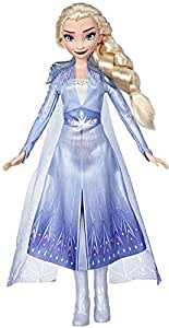 Disney Frozen Elsa Fashion Doll with Long Blonde Hair and Blue Outfit Inspired by Frozen 2 - Toy for Kids 3 Years Old and Up