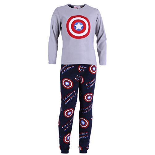 Grau-marineblauer Schlafanzug Captain America - 12-13 Jahre 158 cm (Captain Mädchen America)