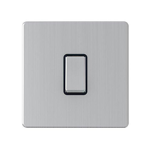 AET SLINTBS 1 banda, 10 A, senza Inserto interruttore A bilanciere in metallo, colore: nero