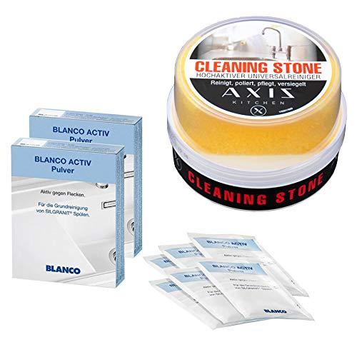 Pflege Set 2 Pack Blanco Activ Reinigungs Pulver Silgranit Spülen - Aktiv gegen Flecken