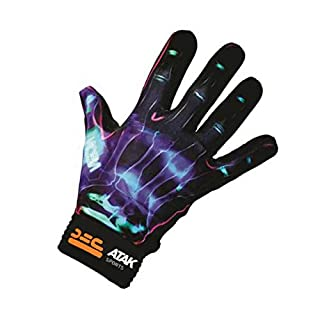 Atak Sports Men's Neon Gaelic Gloves, Blue, Large