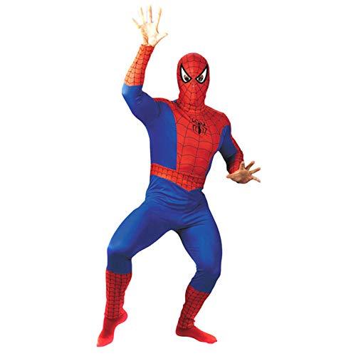 Muskel Kostüm Superman Erwachsene Für - nihiug Halloween-kostüm Cos Erwachsenen Superman Kostüm Männlichen und Weiblichen Spiderman Batman Amerikanischen Kapitän Muskel Performance Anzug,K