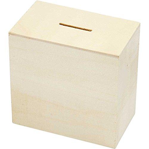Hucha, A. 10 cm, medidas 6x10 cm, madera contrachapada, 10ud
