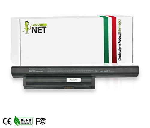 New Net - Batteria da 5200mAh Compatibile con Notebook Sony Vaio VPC-EE47FJ/WI VPC-EE4E1E VPC-EE4J1E VPC-EE4M1E VPC-EF22FX/BI VPC-EF2E1E/WI VPC-EF2S1E/BI VPC-EF2S1E/WI VPC-EF3E1E/WI VPC-EF3S1E/BI