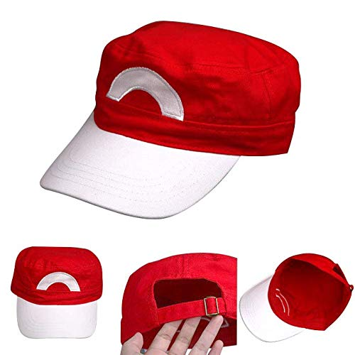 Gaosheng Pokemon Trainer Ash Ketchum Cap Mütze - Kostüm für Erwachsene & Kinder - perfekt für Fasching, Karneval & Cosplay - Damen ()