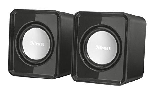 Trust Leto USB Angetrieben Digitale Stereo-Lautsprecher / Multimedia Kompakt 2.0 Lautsprecher für Windows, PC, Laptop, Computer / iCHOOSE Spkr Usb