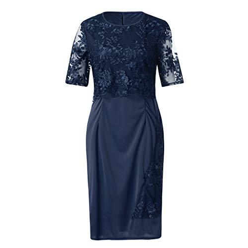 Abito donna moda pizzo elegante abito per la madre della sposa lunghezza al ginocchio taglia forte