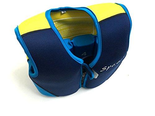 Titop Schwimmhilfe für Kind Schwimmunterricht für Baby Blue + gelb klein für Kinder zwischen 1-3 Jahren