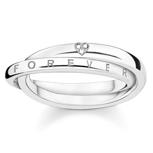 Thomas Sabo Damen-Ring Glam & Soul 925 Silber Diamant (0.05 ct) weiß Gr. 54 (17.2) - D_TR0017-725-14-54