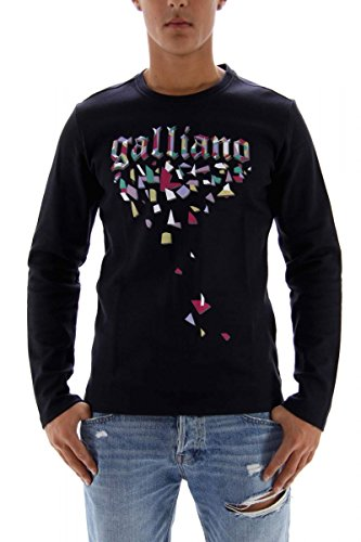 john-galliano-sweatshirt-herren-dunkelblau-grosse-m