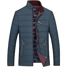 Jóvenes Hombre Sencillo Invierno Chaqueta de plumón Fashion Color pelo corto Incluso and Mens Invierno, color azul marino, tamaño 185