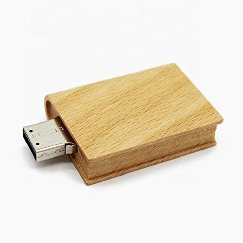 Libro in ligno 16 gb - book wood - chiavetta pendrive - memoria archiviazione dei dati - usb flash pen drive memory stick - marrone